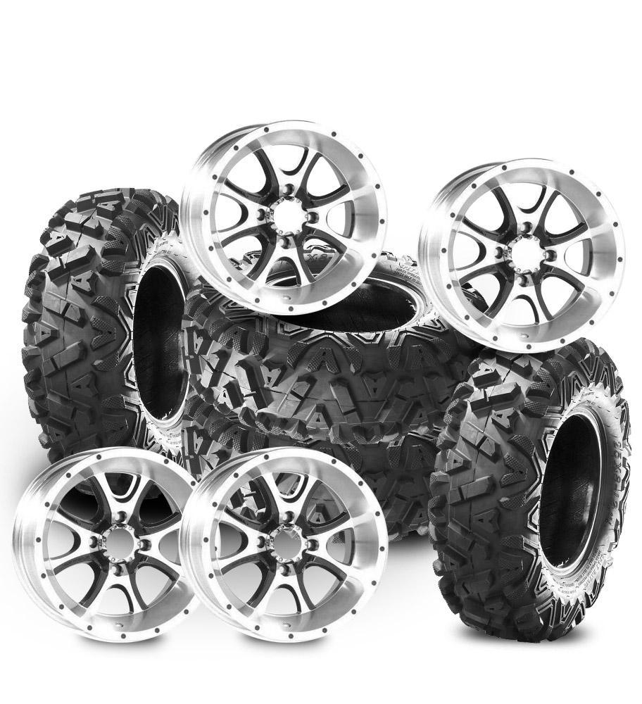 pack pneus 26x9x14 26x11x14 pouces jantes razor sp14 4x110. Black Bedroom Furniture Sets. Home Design Ideas